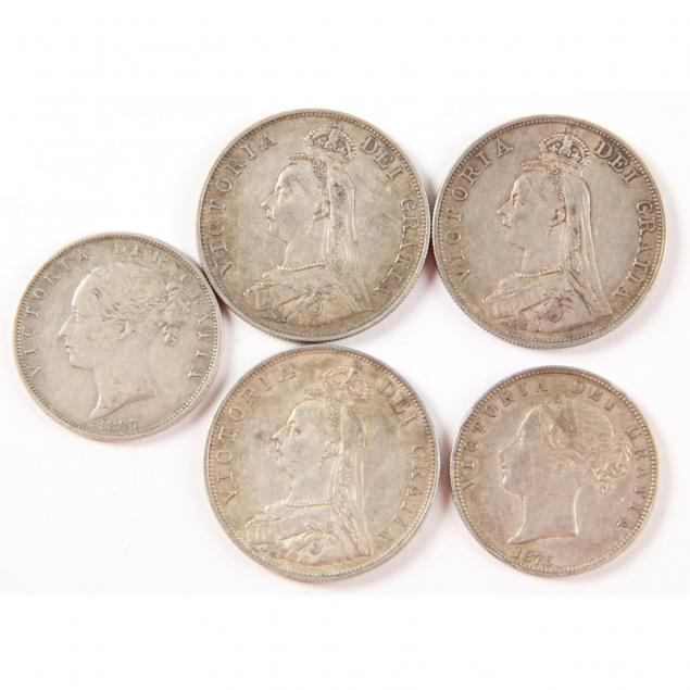 uk-five-victorian-silver-coins