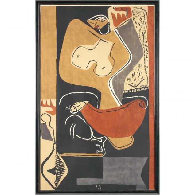le-corbusier-french-1887-1985-femme-a-la-main-levee