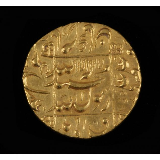 india-mughal-empire-muhammad-shah-jahan-gold-mohur