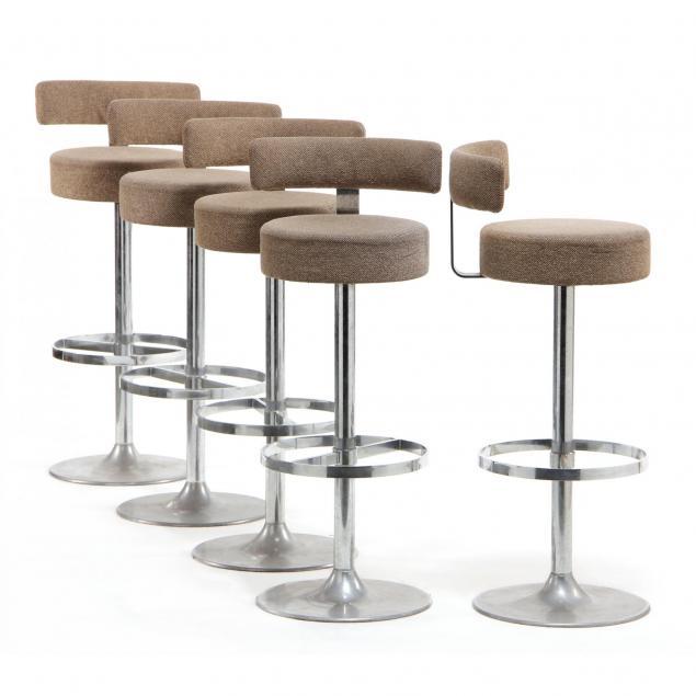 set-of-five-modernist-bar-stools