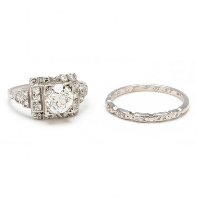 vintage-platinum-and-diamond-wedding-set