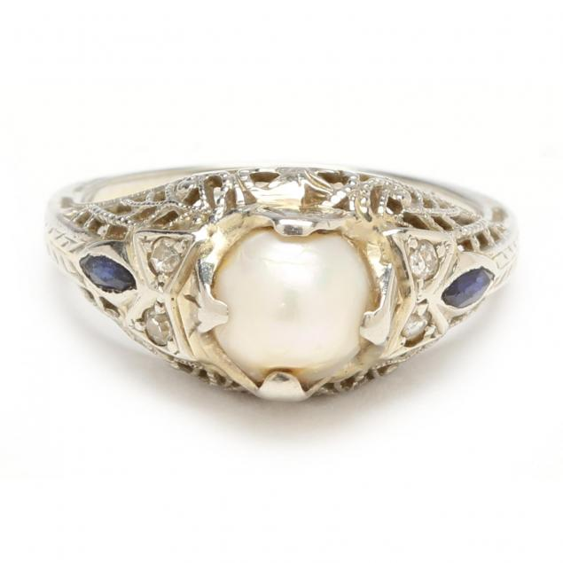 18kt-vintage-pearl-and-diamond-ring