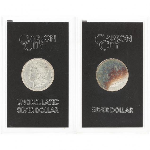 two-gsa-1884-cc-morgan-silver-dollars