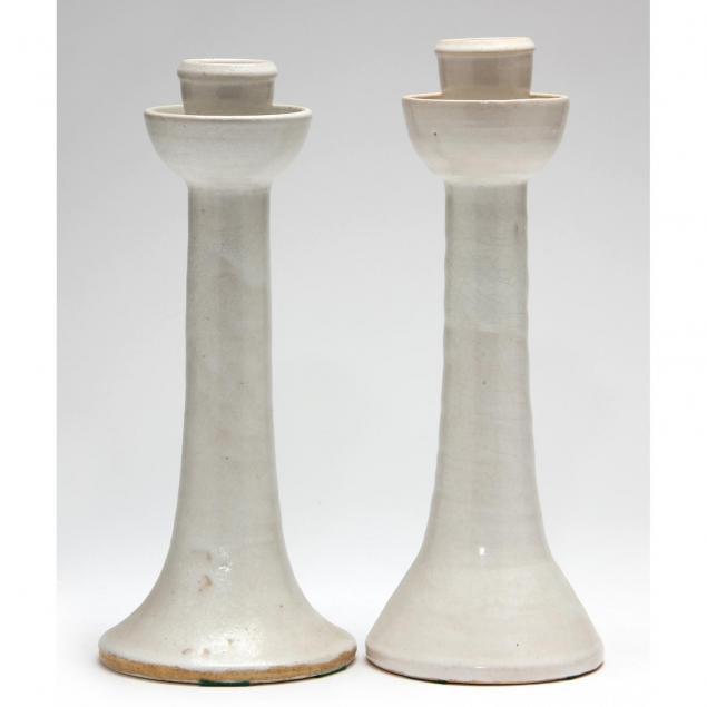 nc-pottery-ben-owen-iii-near-pair-candlesticks