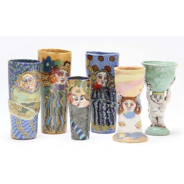 nc-pottery-jane-peiser-tumblers-and-goblets