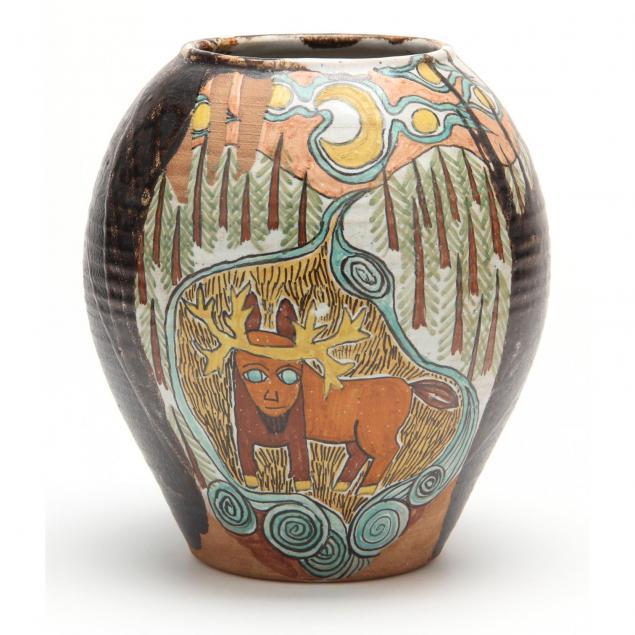 nc-pottery-jane-peiser-decorated-vase