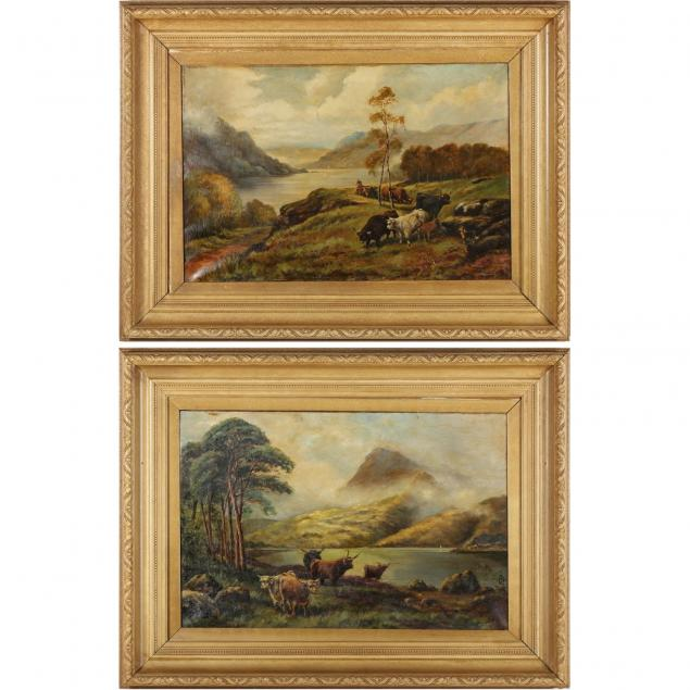 pair-of-victorian-scottish-highlands-landscape-paintings