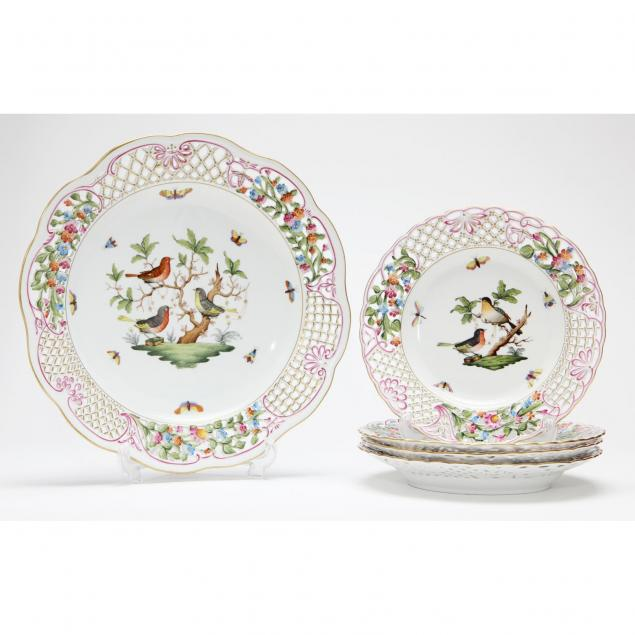 herend-reticulated-five-piece-luncheon-set