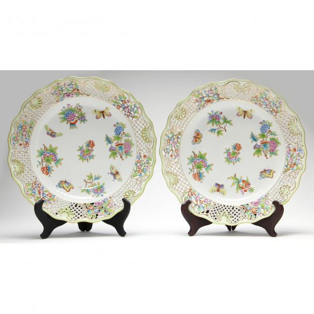 two-herend-reticulated-serving-platters