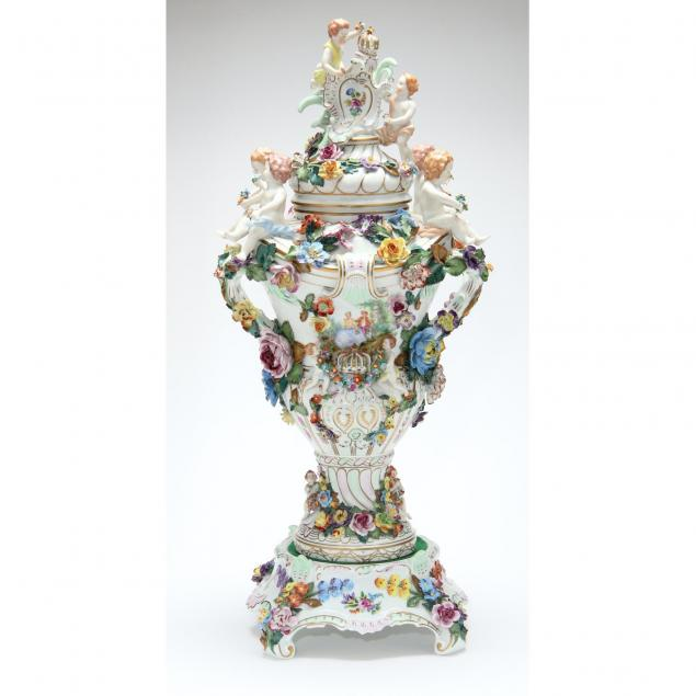 dresden-three-part-figural-and-floral-urn
