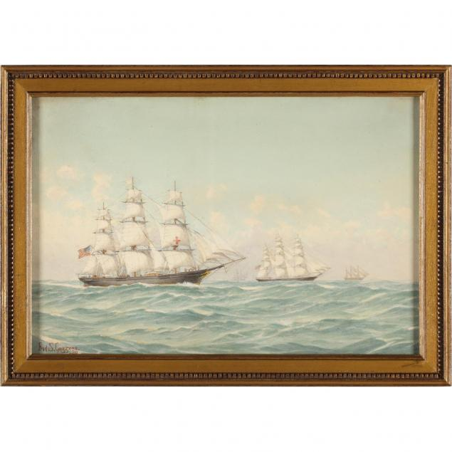 frederic-cozzens-ny-1846-1928-american-clippers