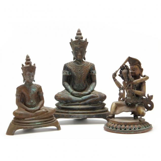 three-southeast-asian-buddhist-cast-bronzes