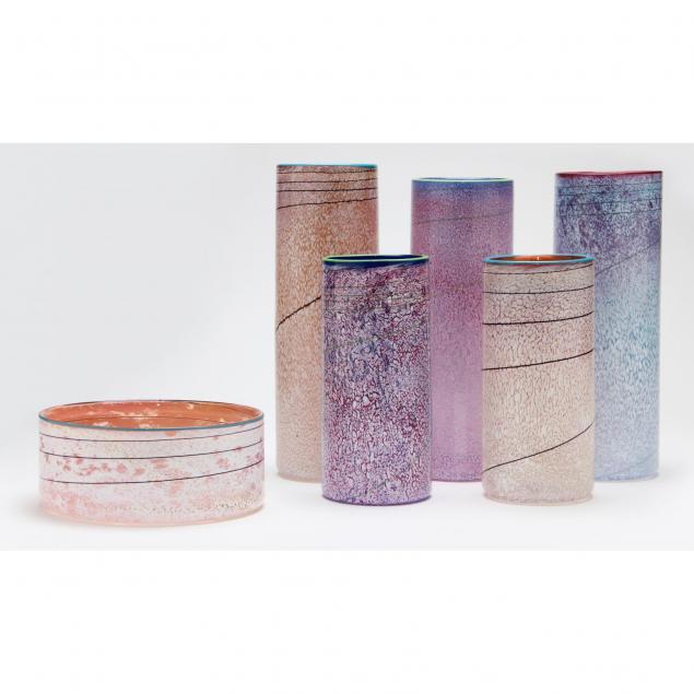 group-of-contemporary-studio-art-glass