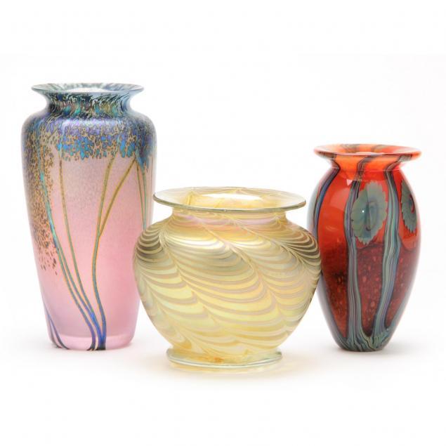 three-contemporary-art-glass-vases