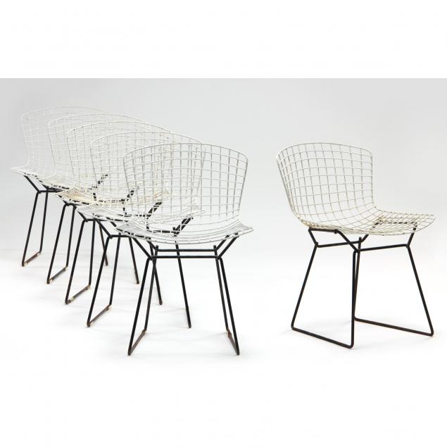 harry-bertoia-six-vintage-wire-chairs