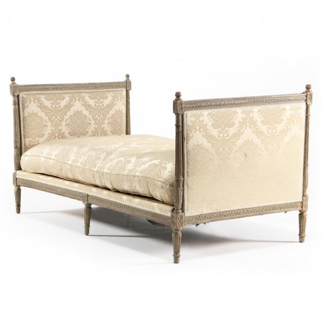 a-louis-xvi-green-painted-daybed