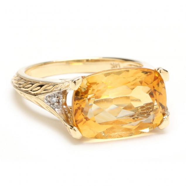 14kt-citrine-and-diamond-ring