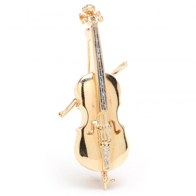gold-and-gem-set-musical-brooch