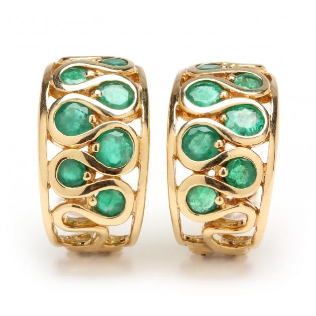 18kt-emerald-ear-hoops