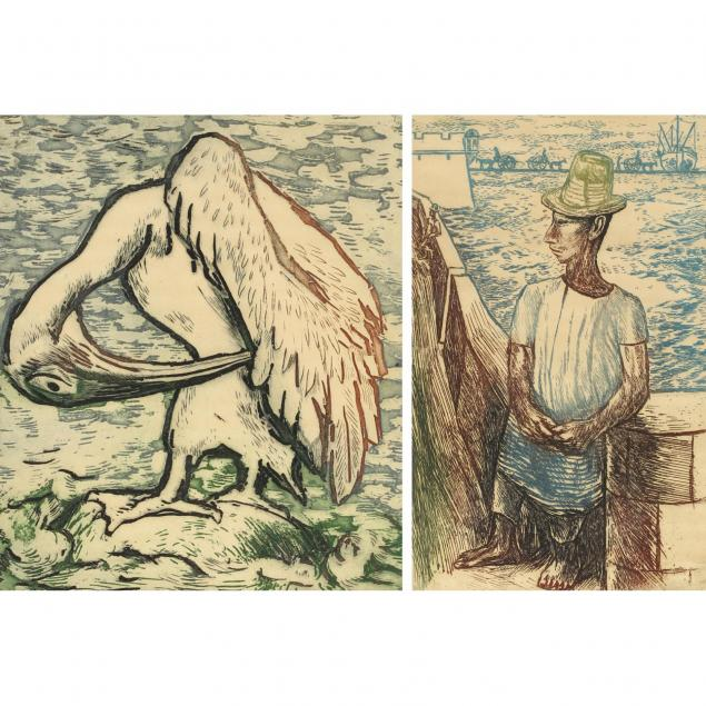 alfredo-zalce-mexican-1908-2003-two-lithographs