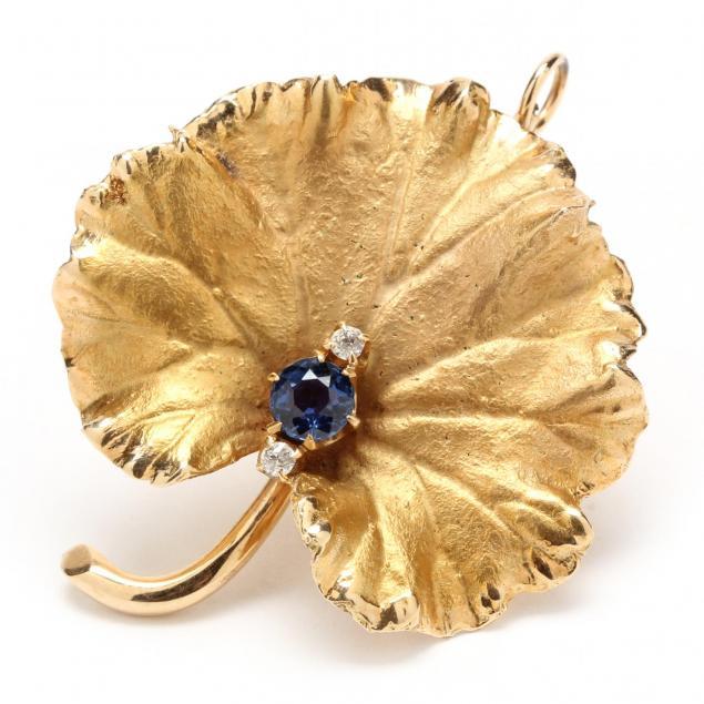 14kt-sapphire-and-diamond-brooch-pendant