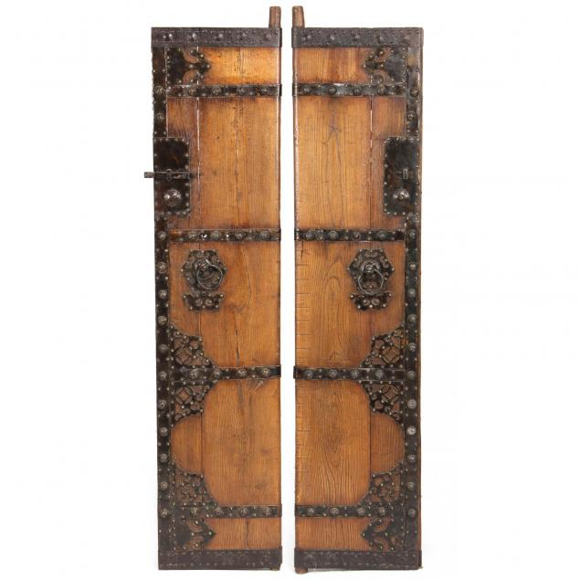 pair-of-chinese-hardwood-architectural-doors