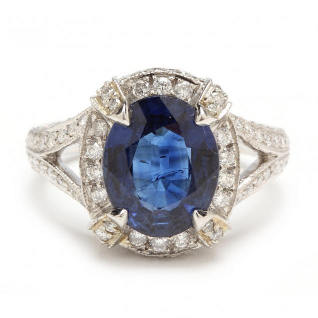 platinum-sapphire-and-diamond-ring