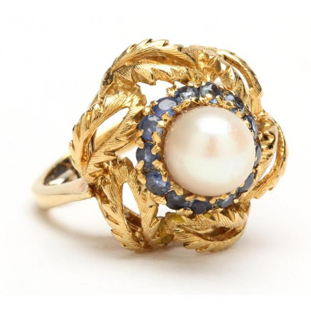 18kt-pearl-and-sapphire-ring
