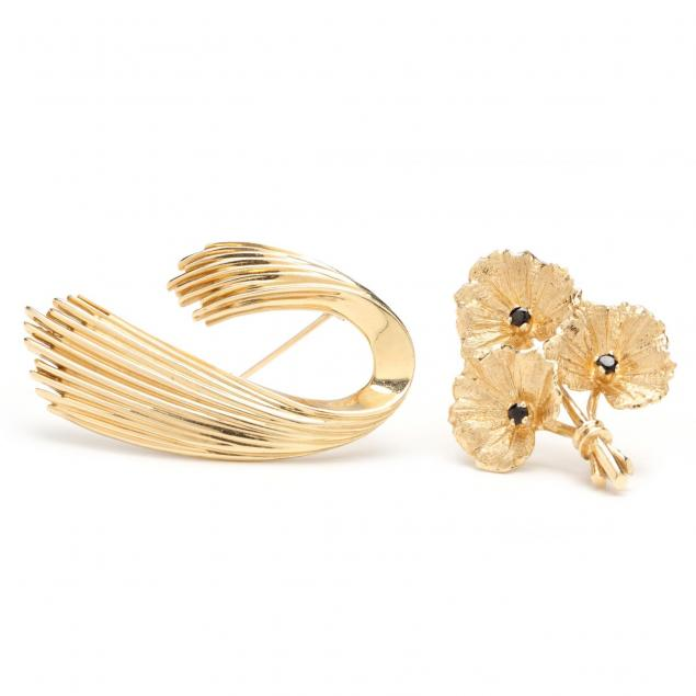 two-gold-brooches-signed