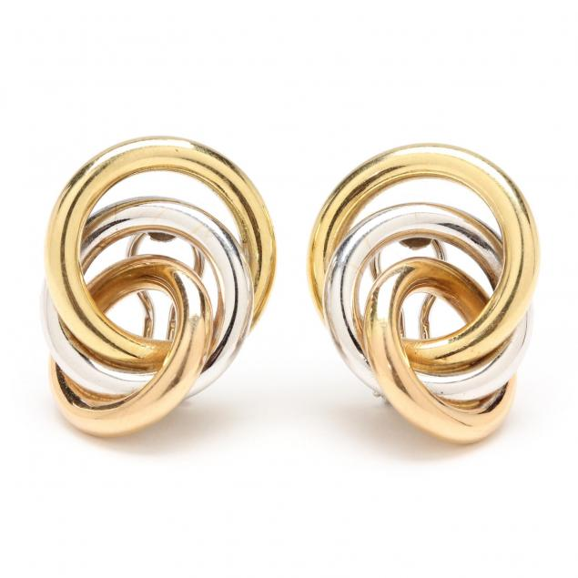 tri-color-18kt-gold-earrings-italy