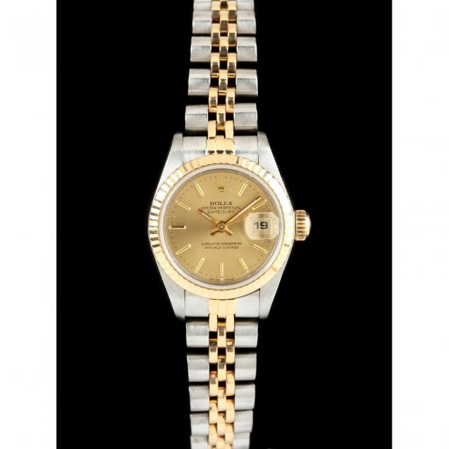 lady-s-stainless-steel-and-18kt-datejust-watch-rolex