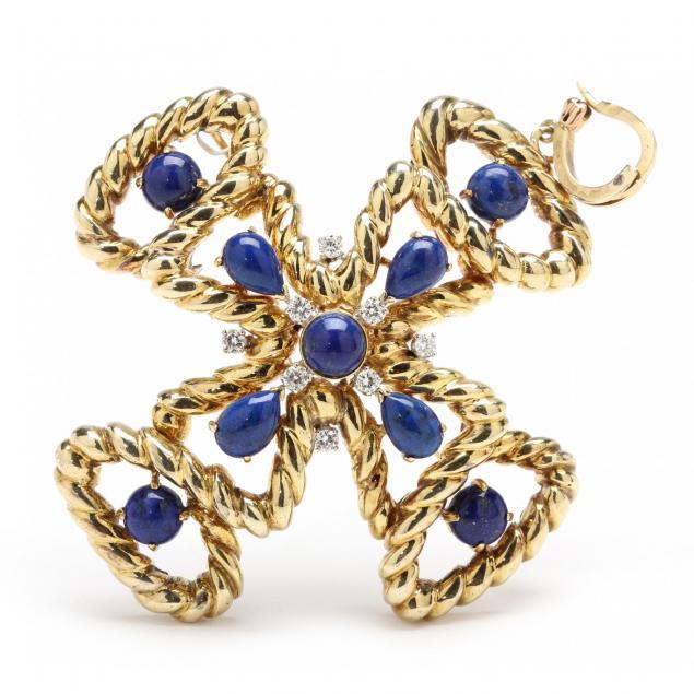 14kt-lapis-and-diamond-brooch-pendant