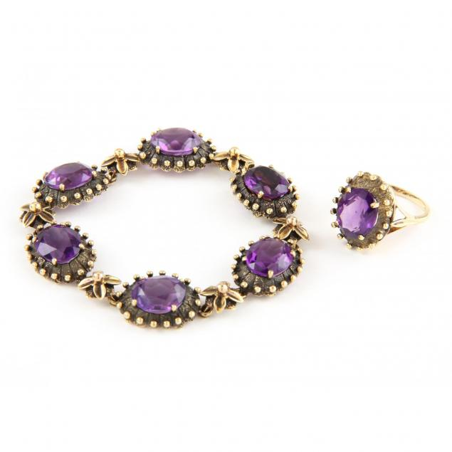 14kt-gold-and-amethyst-demi-parure-t-o-donohue