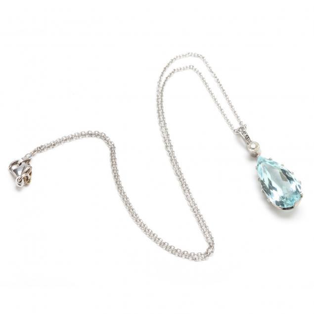 18kt-white-gold-aquamarine-and-diamond-pendant-necklace