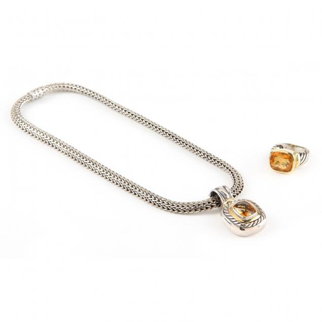 sterling-and-gold-citrine-necklace-and-ring-david-yurman-and-john-hardy