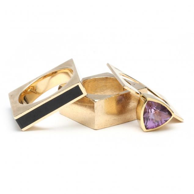 three-yellow-gold-modernist-stack-rings-marraccini