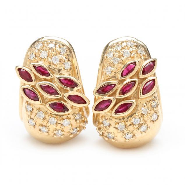 14kt-ruby-and-diamond-earrings