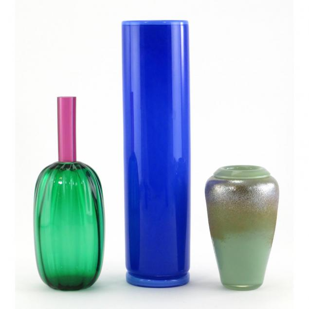 three-modern-art-glass-vases