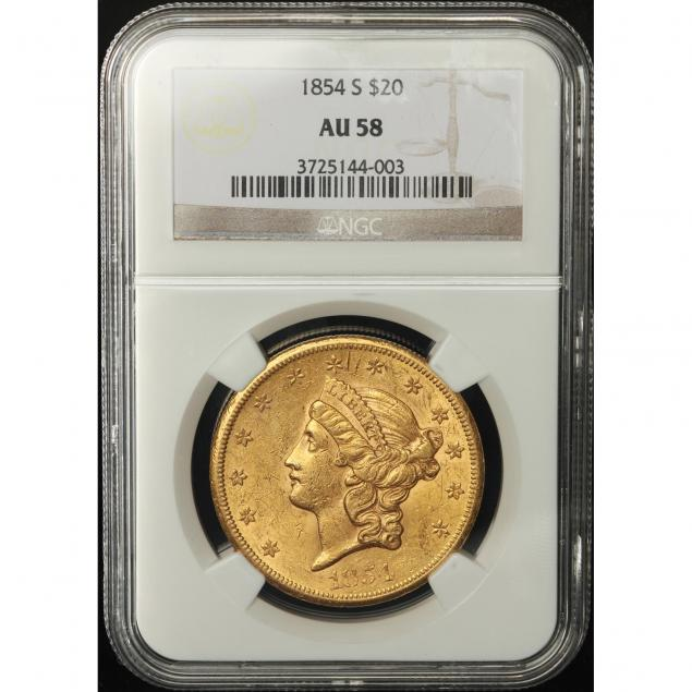 1854-s-20-gold-ngc-au58