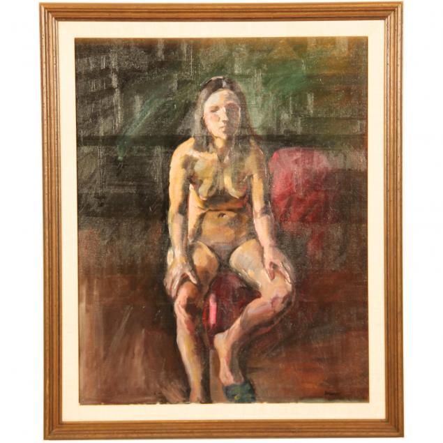 seymour-rosofsky-il-1924-1981-seated-female-nude
