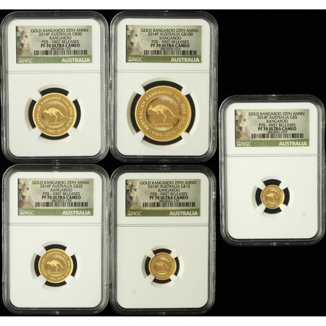 australia-2014-p-five-coin-gold-kangaroo-first-releases-proof-set