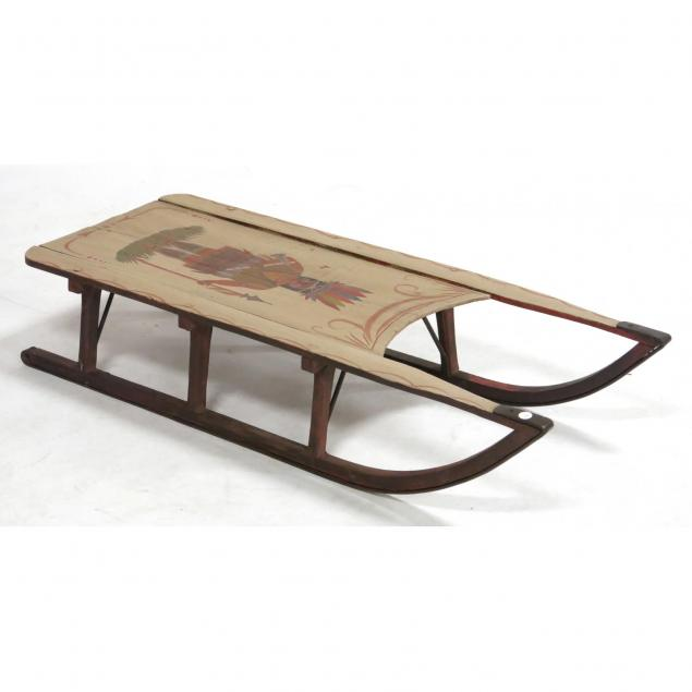 paint-decorated-child-s-sled