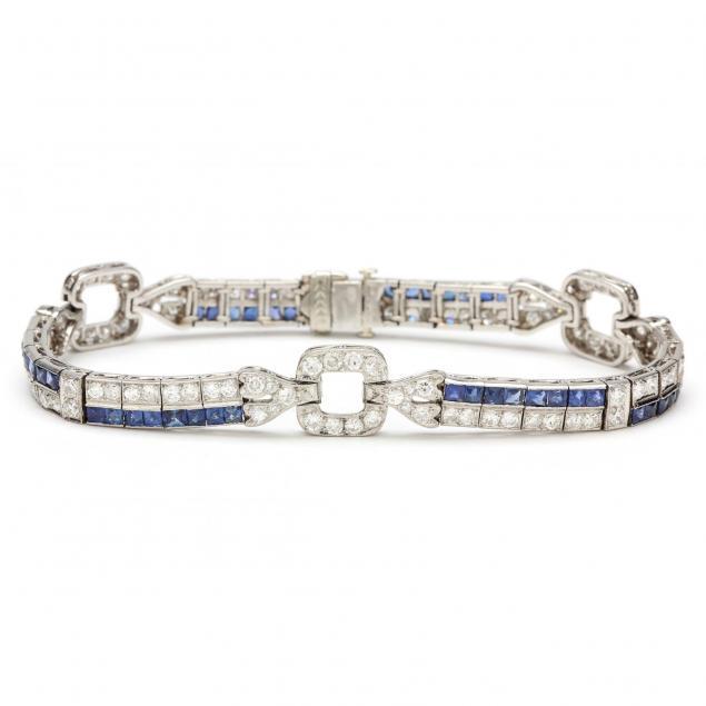 platinum-diamond-and-sapphire-bracelet