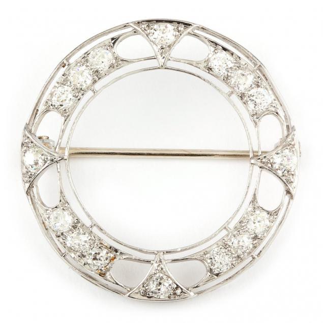 art-deco-platinum-circle-brooch