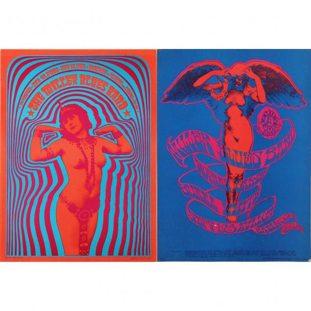 two-1967-miller-blues-band-concert-posters