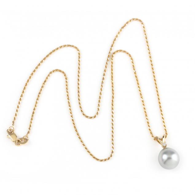 14kt-pearl-and-diamond-pendant-necklace