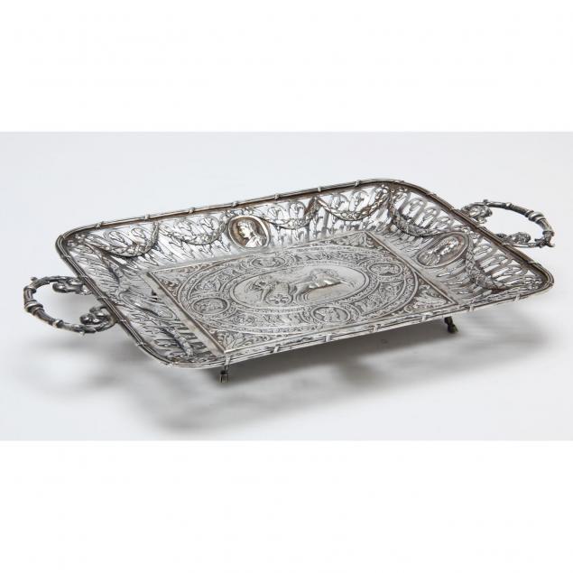 hanau-silver-low-dish-19th-century