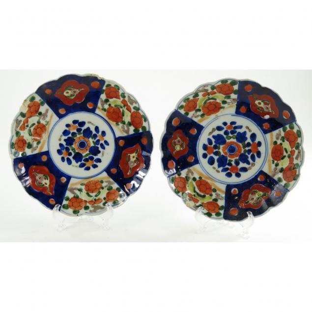 pair-of-japanese-imari-plates