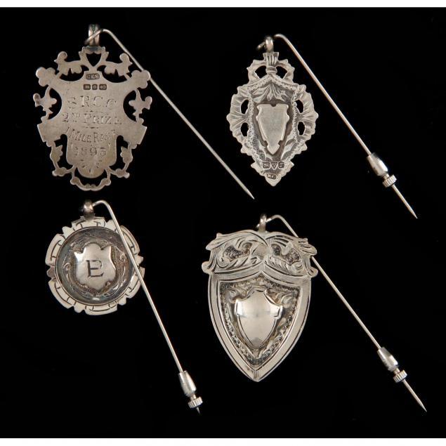 four-english-silver-stick-pins