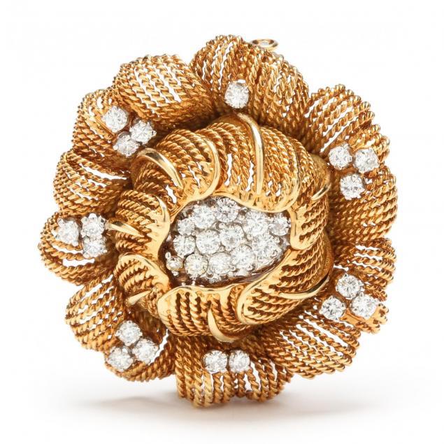 vintage-platinum-and-18kt-gold-and-diamond-flower-clip-brooch-france